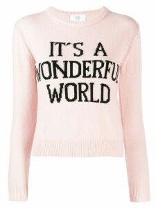 Alberta Ferretti It's A Wonderful World sweater - Pink