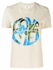 Alberta Ferretti Love Me! printed T-shirt - Neutrals