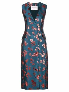 Carolina Herrera jacquard midi dress - Blue