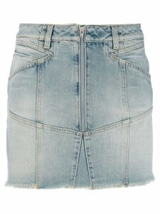 Givenchy zipped denim skirt - Blue