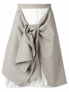 Nina Ricci asymmetric tartan skirt - Neutrals