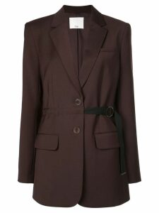 Tibi belted tropical wool blazer - Brown