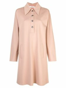 Tibi sculpted shirt dress - Brown