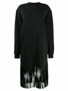 MSGM fringed sweatshirt dress - Black