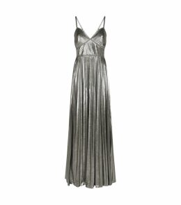 Lamé Pleated Gown