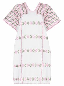 Pippa Holt embroidered kaftan dress - White