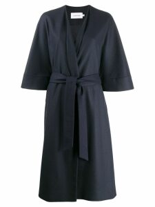 Calvin Klein belted single-breasted coat - Blue