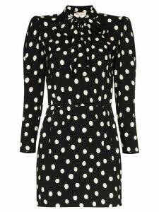 Saint Laurent polka-dot mini dress - Black
