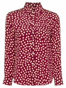 Saint Laurent polka-dot print shirt - Red