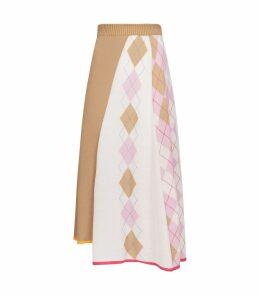 Argyle Knitted Skirt