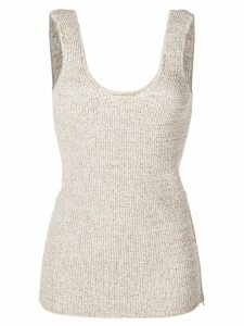 Tibi Tech knitted tank top - White