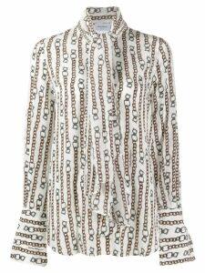 Salvatore Ferragamo chain print shirt - Neutrals