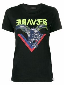 Diesel panther print T-shirt - Black