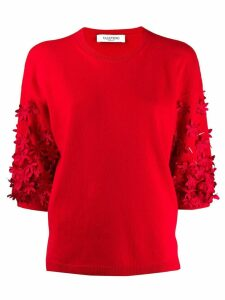 Valentino floral motif jumper - Red