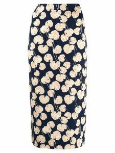 Diane von Furstenberg floral print skirt - Blue