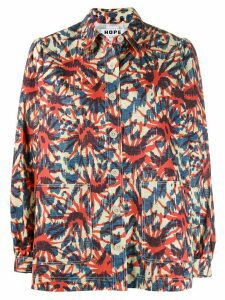 Hope printed shirt jacket - Blue