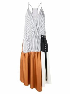 Tibi Camille collage wrap dress - Brown