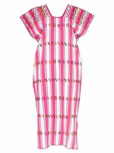 Pippa Holt embroidered striped kaftan dress - Pink
