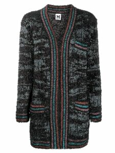 M Missoni open front tinsel cardigan - Black