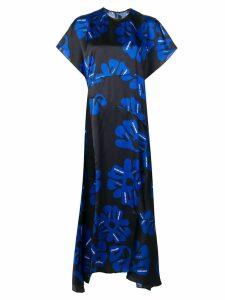 Nina Ricci floral asymmetric dress - Blue