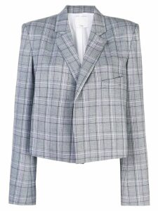 Tibi James check cropped blazer - Grey