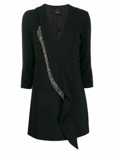 Pinko crystal panel mini dress - Black