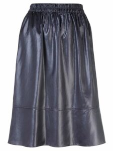 Tibi Liquid draped midi skirt - Black