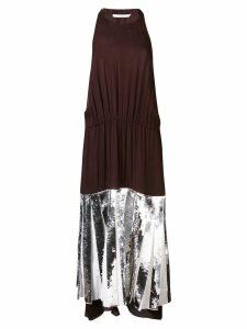 Tibi Claude sequin panel halterneck dress - Brown