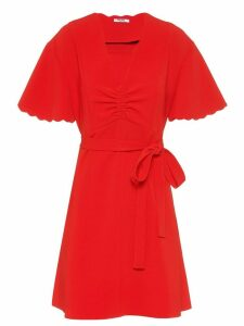 Miu Miu Faille cady dress - Red