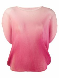 Pleats Please Issey Miyake ombré print pleated T-shirt - Pink