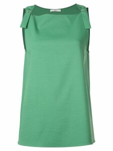 Tibi Chalky Drape sleeveless top - Green
