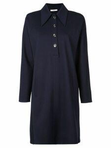 Tibi Bond Stretch Knit Sculpted Shirtdress - Blue