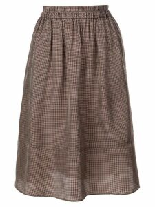 Tibi Walden checked skirt - Brown