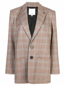 Tibi James check men's blazer - Brown