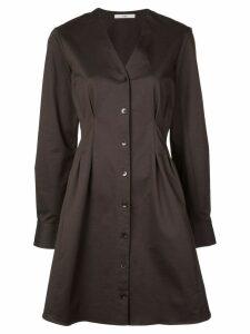 Tibi Dominic Twill shirt dress - Brown