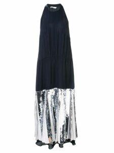 Tibi Claude sequin panel halterneck dress - Black