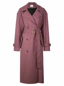 Tibi Bonded lightweight trench coat - Purple