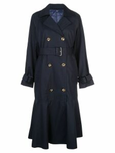 Tibi double breasted trench coat - Blue