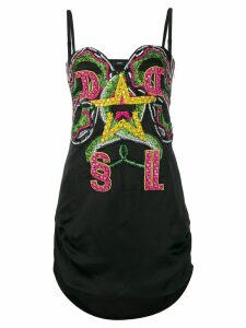 Diesel embellished mini dress - Black