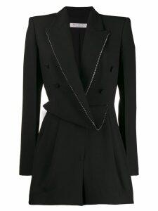 Philosophy Di Lorenzo Serafini draped blazer playsuit - Black
