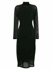 Mm6 Maison Margiela sheer mesh dress - Black