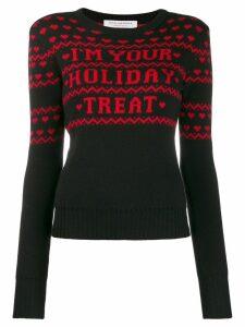 Philosophy Di Lorenzo Serafini Christmas printed jumper - Black