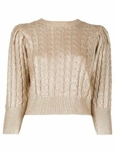 MSGM metallic cable knit sweater - Gold