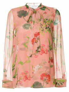 Oscar de la Renta botanical print blouse - Pink