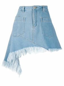 Marques'Almeida asymmetric denim skirt - Blue
