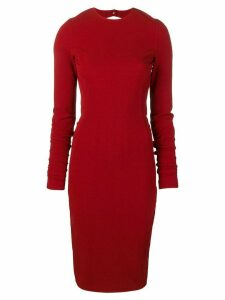Rick Owens fitted midi dress - Red