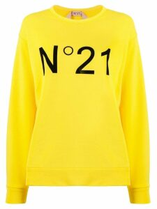 Nº21 logo printed sweatshirt - Yellow