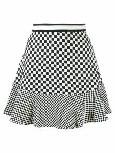 Michael Michael Kors check print A-line skirt - Black