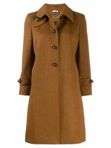 Miu Miu bow detail midi coat - Brown
