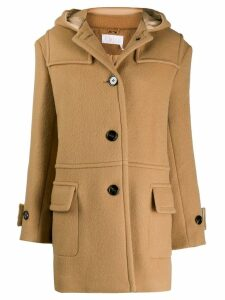 Chloé hooded fitted coat - Brown